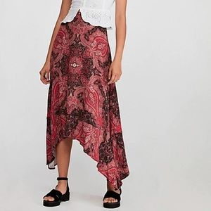FREE PEOPLE Pink At the Shore Asymmetrical Skirt